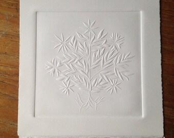 Star Tree, blind embossed print