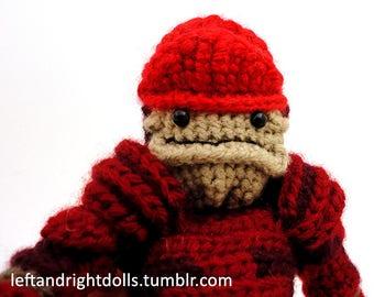 Urdnot Wrex (Mass Effect) - Handmade crochet original design doll