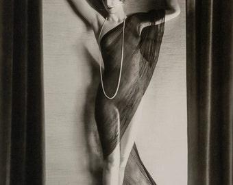Orvil Hixon Photo, standing female figure, 1920s