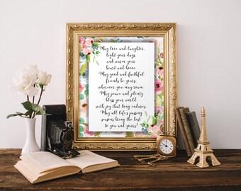Irish prayer, Irish blessings, Irish blessing sign, Quote prints, Irish wedding gift, Irish printable, irish decor, Home decor, BD-631