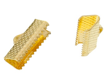 Crimp End, Gold Plated Crimp End, 16 mm x 8 mm Crimp, 10 count (CE-16x8-G)