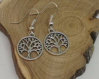 Earring tree of life