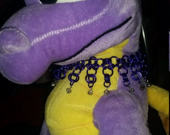 Purple crystal collar/necklace