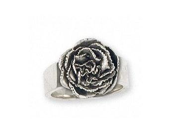 Carnation Ring Jewelry Sterling Silver Handmade Flower Ring CN1-R