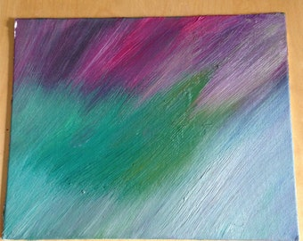 Vibrant pastel 8x10 original oil painting