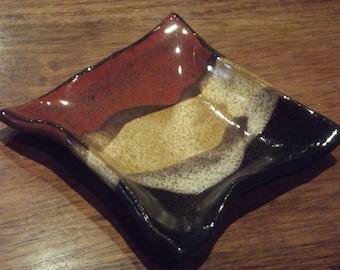 Handmade Pottery Spoon Rest, Teaspoon Rest, Teabag Holder, Coffee Spoon Rest, Pill Dish, Jewelry Holder, Wedding Favor
