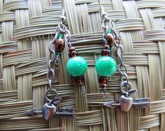 Apple of My Eye dangle earrings