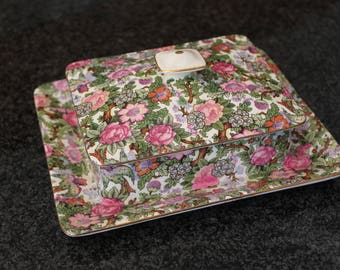 Crown Ducal Chintz Candy Box