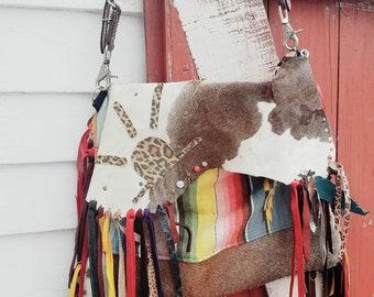Cheetah serepe cowhide purse