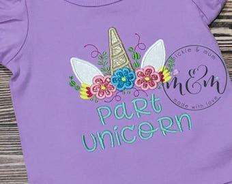 Part Unicorn | Unicorn Birthday | Unicorn Shirt | First Birthday Outfit | Teal and Purple Birthday | Birthday Outfit Girl | Unicorn Party