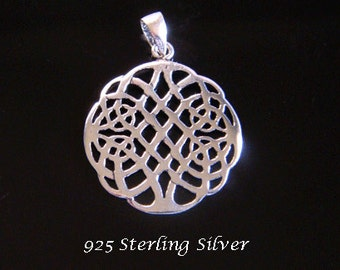 Tree of Life Necklace Woven Celtic Tree, Sterling Silver Tree of Life Necklace Intricate Celtic Tree 070 Gift Idea, Celtic Jewelry Jewellery
