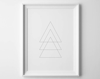 Triangle Geometric Printable Art, 8x10, 4:5 Ratio, Modern Wall Art, Instant Download, Digital Print Printable Art