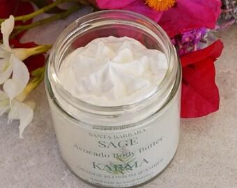Orange Blossom & Amber Whipped Avocado Butter by Santa Barbara Aromatics  Gift for Women   Gift for Mom   Bridesmaid Gift  Vegan body butter