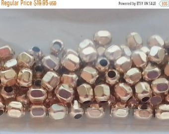SAVE 20% 100 pieces 14k Gold Filled 3mm Faceted Round Beads MADE In THE Usa