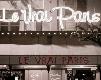 Paris photography, Paris in black and white, Paris art print, Paris cafe - The Real Paris