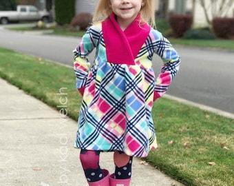 Fern's Girls Fleece Scarf Pullover PDF Pattern - Sizes 2T to 14 girls