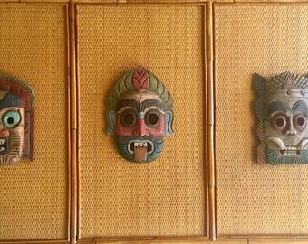 Set of 3 tribal masks