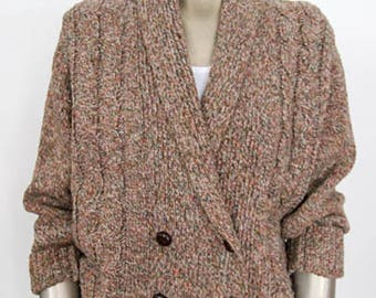 Vintage 1980s Shawl Collar Cardigan Sweater