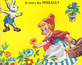 Vintage Little Red Riding Hood by Perrault Softcover Giant Fairy Tale Story 1967 Ottenheimer Publishers