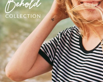 Temporary Tattoos   Behold Collection   Catholic Marian Consecration Tattoos