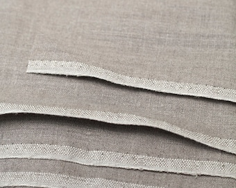 SALE.100% Natural Linen Flax grey  Fabric.  Linen fabric by the half yard,yard, meter. Natural linen color..  MORE AVAILABLE