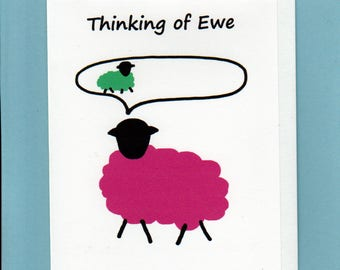 Thinking of you Card / Thinking of Ewe