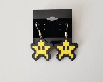 Star perler earrings
