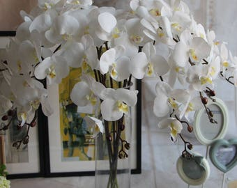 5 Stems Orchids Artificial Flowers Wedding Dinner Venue Decoration Butterfly Orchid Phalaenopsis Flowers