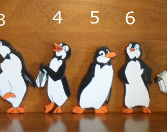 Mary Poppins Penguin 7in and 8in Tall Standing Room Decor or Wall Plaque