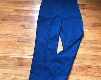 1970's women's high waisted, wide leg jeans
