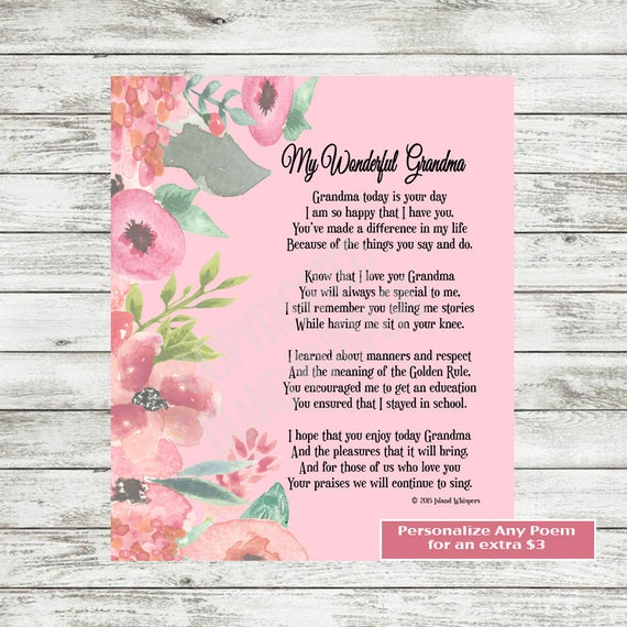 Grandmother gift grandmother poem new grandmother gift stopboris Images