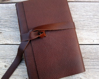 "Leather Wedding Guest Book, Photo Album, Art Journal, or Journal. 6"" x 9"""