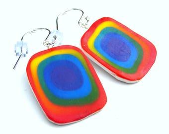 Rainbow Earrings - .925 sterling silver ear wires - Interchangeable Earrings - Lightweight Earrings - Australian Made - Rainbows - Handmade