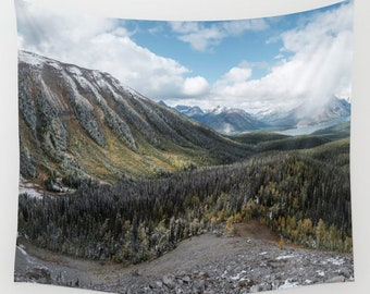 """Ridges of the Rocky Mountains - Large Tapestry, Wall Hanging, Wall Art (68x80"""")"""