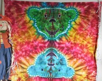 """Tie Dye Tapestry """"Grateful Bear"""""""