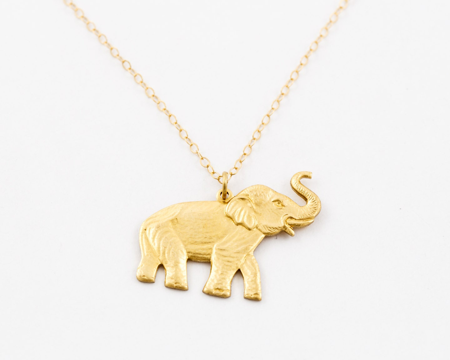Elephant necklace 14k gold chain necklace gold elephant zoom aloadofball Gallery