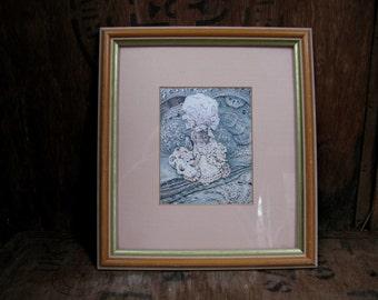 Lady Mouse in Mob Cap, Tailor Of Gloucester, Beatrix Potter Print, Beatrix Potter Picture, Nursery Art, Vintage Beatrix Potter