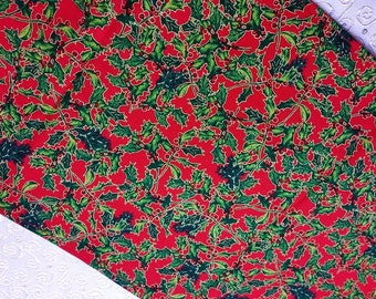 Christmas Table Runner 53 x 12 inch Red Holly  handmade