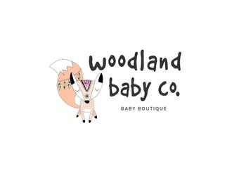 Baby shop premade logo -