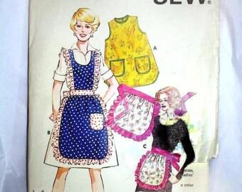 VINTAGE - Kwik Sew Pattern 610 - aprons and smock apron