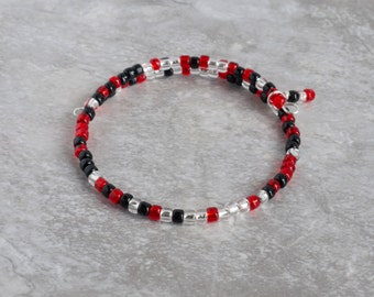 Womens RED Friday Military Deployment Bracelets - Deployment Gift - Remember Everyone Deployed - Military Gifts - I Love My Hero - Wear Red