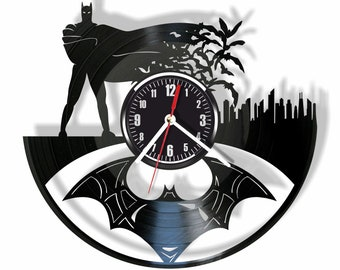 Batman Silent Wall Clock Made From Real Vintage Vinyl Record GIFT For Your  Friends And Relatives