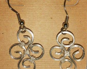 Sterling Silver Swirl Earring set