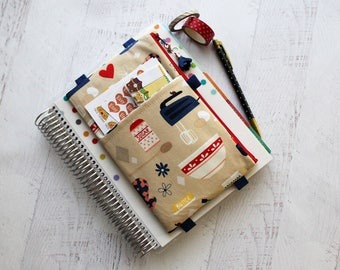 Planner accessories - gift for baker - planner pouch - bullet journal accessories - baking happy planner cover - pencil pouch