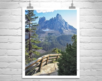 Pacific Northwest Picture, Cascade Mountain Art, Washington State Photograph, Washington Pass Highway Art, Washington Gift, Western Picture
