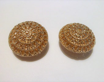 Gold plated filigree oval beads