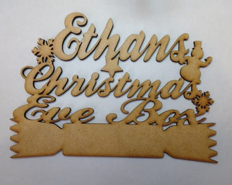 wooden christmas eve box topper 3mm laser cut