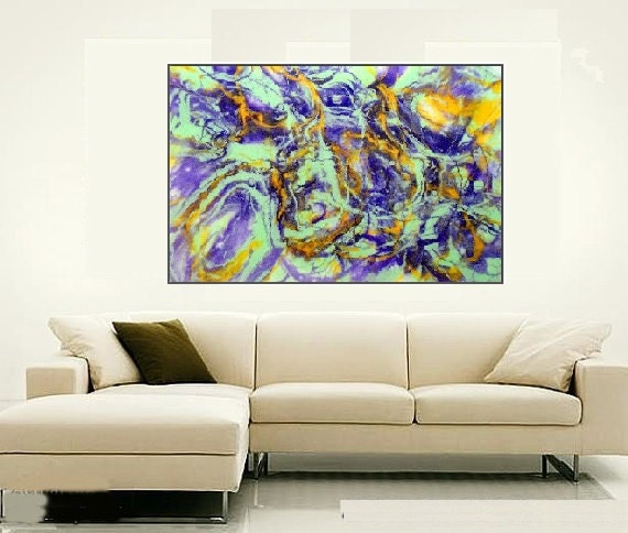 extra large canvas art abstract giclee print on unstretched. Black Bedroom Furniture Sets. Home Design Ideas