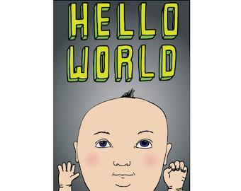 New Baby Card - Hello World