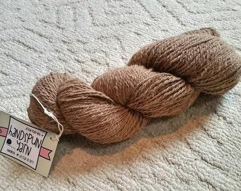Light Fawn 100% Huacaya Alpaca Yarn - approx 130 yds